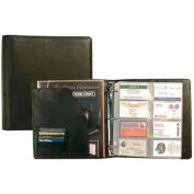 Bond Street Deluxe Black Leather Business Card Case