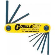 "Bondhus 12585 3/16-3/8"" 5 Pc. GorillaGrip Fold-Up Set"