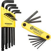 Bondhus 14189 Bonus Pack - Balldriver L-wrench Set 10937 & Gorilla Grip Fold-up Set 12589