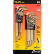 Bondhus 20899 Inch/Metric GoldGuard Plated Balldriver L-wrench Double Pack 38099 & 37937