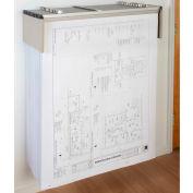 "Brookside Design Blueprint Drop Lift Wall Rack Bundle W/Dozen 36"" Clamps"