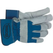 Split Leather Palm Gloves, Boss 1JL4095UL, 1-Pair - Pkg Qty 12