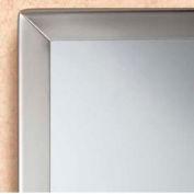 "Bobrick® Tempered Glass Channel-Frame Mirror - 24""W x 36""H - B1658 2436"