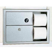 Bobrick® ClassicSeries™ Recessed Sanitary Disposal & Tissue Dispenser - B3094