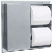 Bobrick® Partition Mounted Multi Roll Tissue Dispenser - Two Compartments - B386