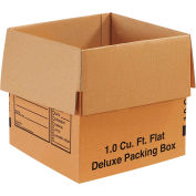 "Deluxe Cardboard Corrugated Packing Boxes 12"" x 12"" x 12"" 200#/ECT-32 - Pkg Qty 25"