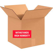 """Weather Resistant Corrugated Boxes 12"""" x 12"""" x 12"""" - 350lb. Test 20 Pack"""