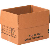 """Deluxe Cardboard Corrugated Packing Boxes 16"""" x 12"""" x 12"""" 200#/ECT-32 - Pkg Qty 25"""