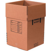 "Cardboard Corrugated Dish Pack Boxes 18"" x 18"" x 28"" 350#/ECT-51 - Pkg Qty 5"