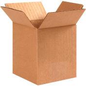"Cardboard Corrugated Boxes 4"" x 4"" x 6"" 200#/ECT-32 - Pkg Qty 25"