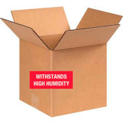 "Weather Resistant Corrugated Boxes 8"" x 8"" x 8"" - 250lb. Test 25 Pack"