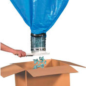 """Packing Peanut Loose Fill Dispenser for 90ft³ Bag, 40""""L x 40""""W x 139""""H, Gray"""