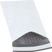 "Bubble Lined Poly Mailers #00, 5"" x 10"" White, 25 Pack"