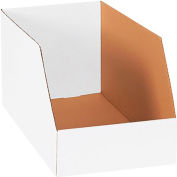 """Global Industrial™ 12"""" x 18"""" x 10"""" Jumbo Open Top White Corrugated Boxes - Pkg Qty 50"""