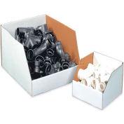 "6"" x 18"" x 10"" Jumbo Open Top White Corrugated Boxes - Pkg Qty 25"