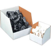 "8"" x 24"" x 12"" Jumbo Open Top White Corrugated Boxes - Pkg Qty 25"