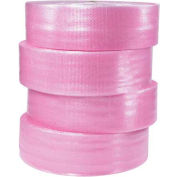"Anti-Static Bubble Roll 12"" x 250' x 1/2"", Non-Perforated, Pink, 4/PACK"