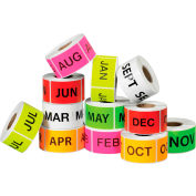 """2"""" x 3"""" Easy Order Months Of The Year Packs 500 Labels Per Roll 12 Rolls"""