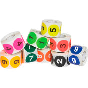 """2"""" Dia. Circle Easy Order Number 1-10 Packs 500 Labels Per Roll 10 Rolls"""