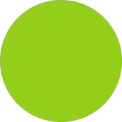"2"" Circle Removable Labels Fluorescent Green 500 Per Roll"