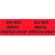 "Do Not Break Stretch Wrap 3"" x 10"" Pallet Corner Labels Fluorescent Red 500 Per Roll"