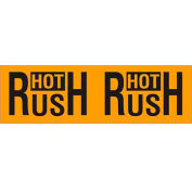 "Hot Rush 3"" x 10"" Pallet Corner Labels Fluorescent Orange 500 Per Roll"