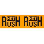 "Hot Rush 3"" x 10"" Pallet Corner Labels Fluorescent Orange 500 Per Roll"