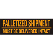 "Must Be Delivered Intact 3"" x 10"" Pallet Corner Labels Fluorescent Orange 500 Per Roll"