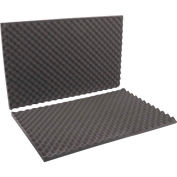 "Charcoal Convoluted Foam Sets 24"" x 36"" x 2"" 9 Pack"