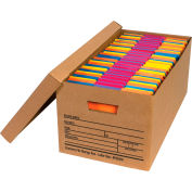 "Economy File Storage Box w/Lid FSB350 - Letter 24""L x 12""W x 10""H - Kraft - Price Each - Pkg Qty 12"