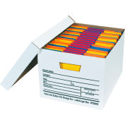 "Auto-Lock File Storage Box FSB400 - Letter/Legal 15""L x 12""W x 10""H White - Price Each - Pkg Qty 12"