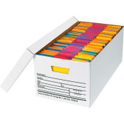 "Auto-Lock File Storage Box FSB440 - Letter 24""L x 12""W x 10""H - White - Price Each - Pkg Qty 12"