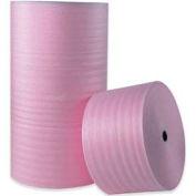 """Anti-Static Air Foam Rolls 18""""W x 250'L, 1/4"""" Thickness, Pink, 4 Rolls"""