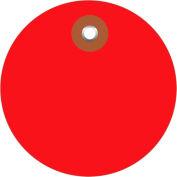 """Plastic Circle Tags 2"""" Diamter Red - 100 Pack"""