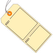 """Consecutively Numbered Claim Tag - Pre-Strung 4-3/4"""" x 2-3/8"""" Manila - 1000 Pack"""