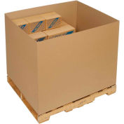 48 X 40 X 36  Double Wall Gaylord Half Slotted Container - 5 Pack
