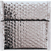 """Glamour Bubble Mailers 7"""" x 6-3/4"""" Silver, 72 Pack"""