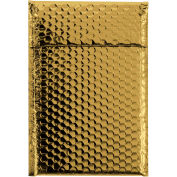 """Glamour Bubble Mailers, 10-1/2""""L x 6-1/2""""W, Gold, Pack of 72"""