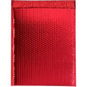 """Glamour Bubble Mailers 13"""" x 17-1/2"""" Red, 100 Pack"""