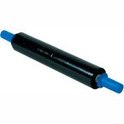 """Black Stretch Wrap 20"""" x 1000' x 80 Gauge With Dispenser"""