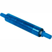 "Blue Stretch Wrap 20"" x 1000' x 80 Gauge With Dispenser"