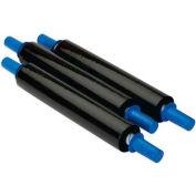 """Black Stretch Wrap 30"""" x 1000' x 80 Gauge With Dispenser"""