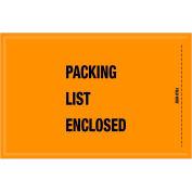 "Full Face Mil/Spec Envelopes - ""Packing List Enclosed"" 5-1/4 x 8"" Orange - 1000/Case"