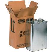 "Haz Mat Boxes For 1 Gal. F Style Can, 6-3/4""L x 4-5/16""W x 10-3/8""H, Kraft, 20/Pack"