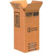 """Haz Mat Boxes For 1 Gal. Plastic Jug, 6""""L x 6""""W x 12-3/4""""H, Kraft, 20/Pack"""