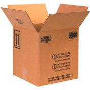 "Four - 1 Gallon Plastic Jug Haz Mat Boxes, 12-1/4"" x 12-1/4"" x 12-3/4"", 20/Pack"