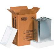 """One 1 Gal. F Style Haz Mat Shipper Kit, 8-3/16""""L x 5-11/16""""W x 12-3/8""""H"""