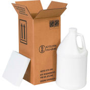 "One - 1 Gallon Plastic Jug Haz Mat Shipper Kit, 6"" x 6"" x 12-3/4"""