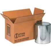 "Two - 1 Gallon Haz Mat Boxes, 14-1/8"" x 6-7/8"" x 7-7/8"", 20/Pack"