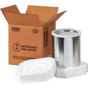 """One - 1 Gallon Foam Haz Mat Shipper Kit, 8-1/2"""" x 8-1/2"""" x 9-5/16"""""""